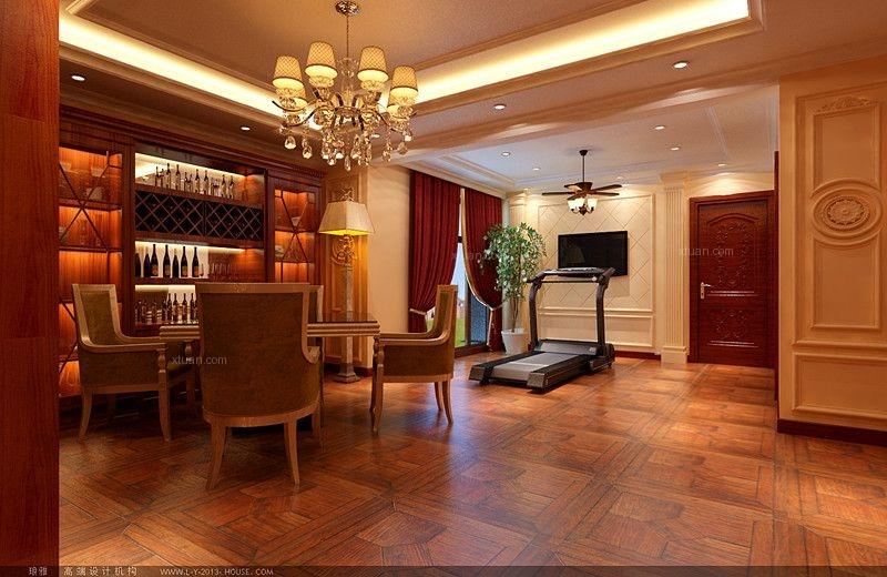 别墅欧式风格休闲区