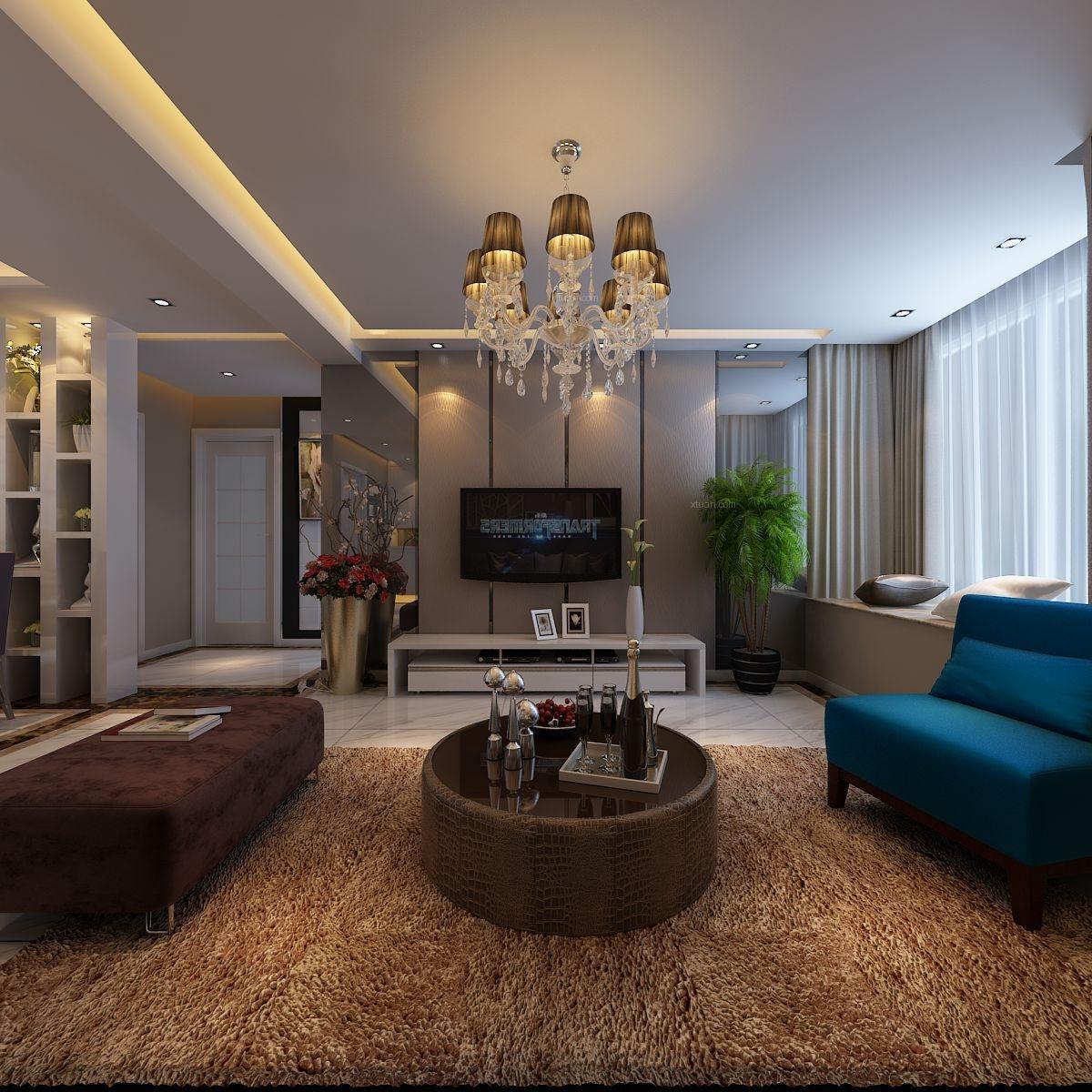 三居室时尚风格客厅_万派城港式风格装修效果图-x团