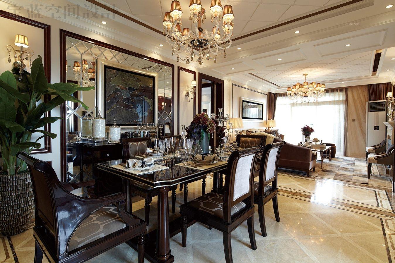 两室两厅时尚风格餐厅软装