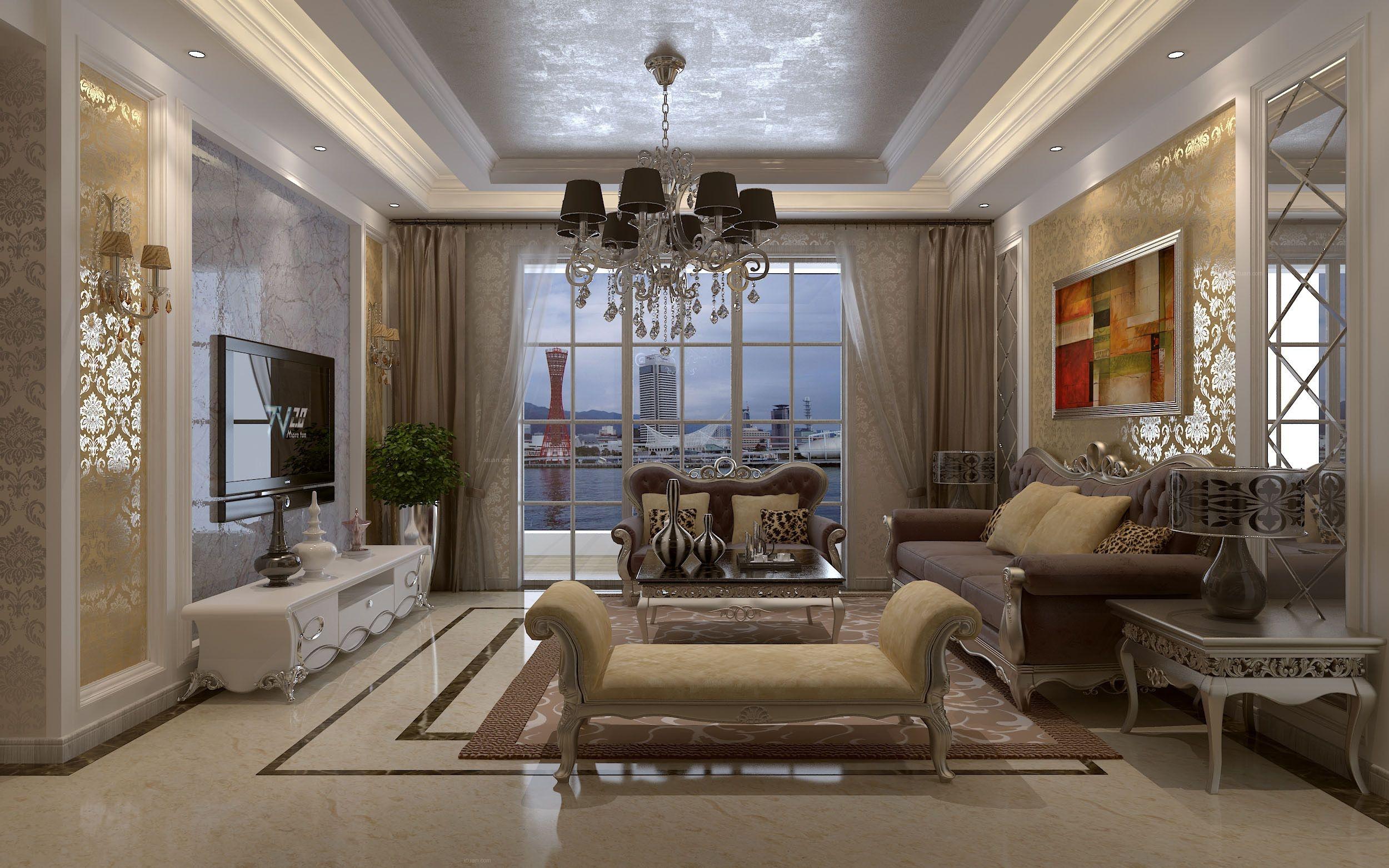 三室两厅欧式风格客厅图片
