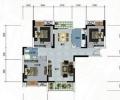 金地雄楚1号118平/三居室简约风格/装修设计