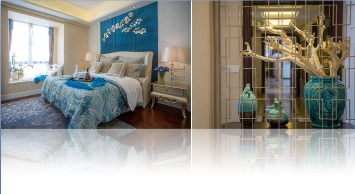 三室一厅混搭风格卧室卧室背景墙