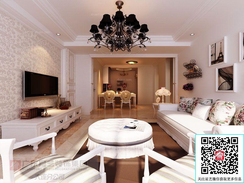 别墅欧式风格客厅卧室背景墙