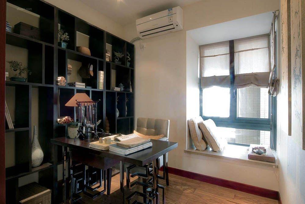 两居室现代简约书房照片墙