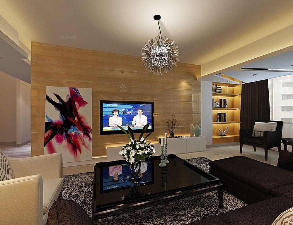 三居室現代簡約客廳