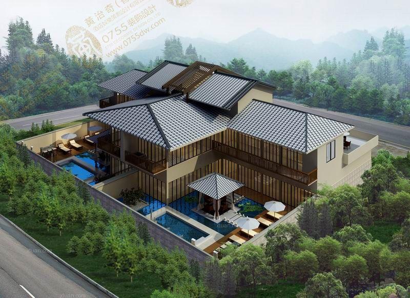 海景别墅东南亚风格餐厅