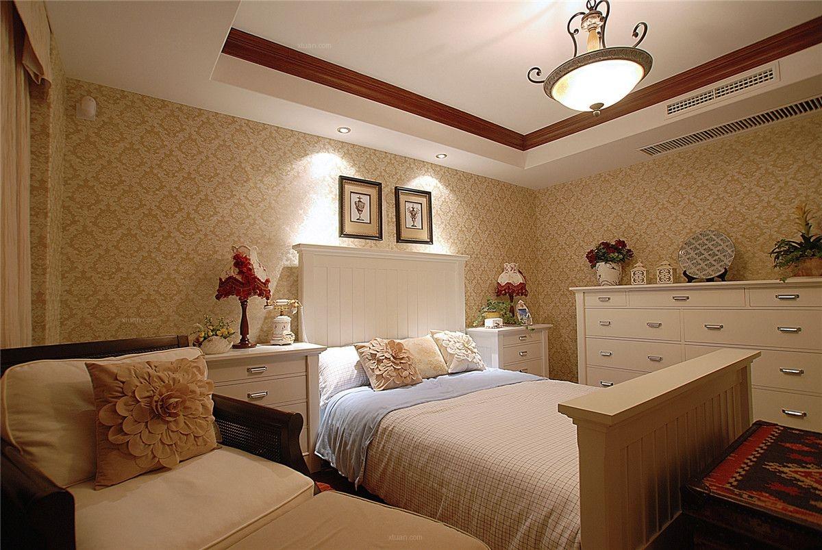 三居室美式风格卧室图片