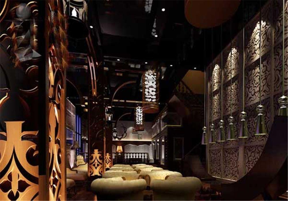 酒吧_青岛本色酒吧设计装修效果图-x团装修网
