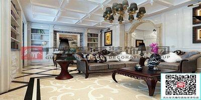 别墅欧式风格客厅照片墙