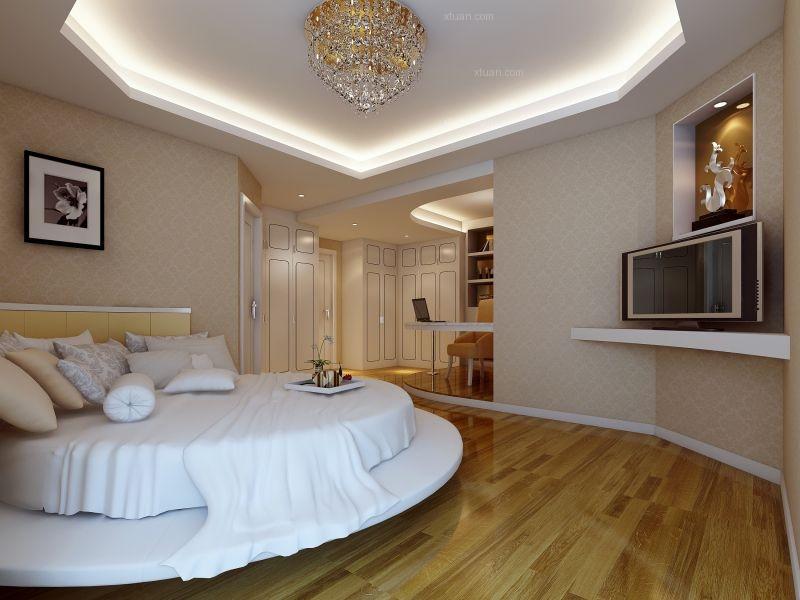 三室两厅欧式风格卧室电视背景墙