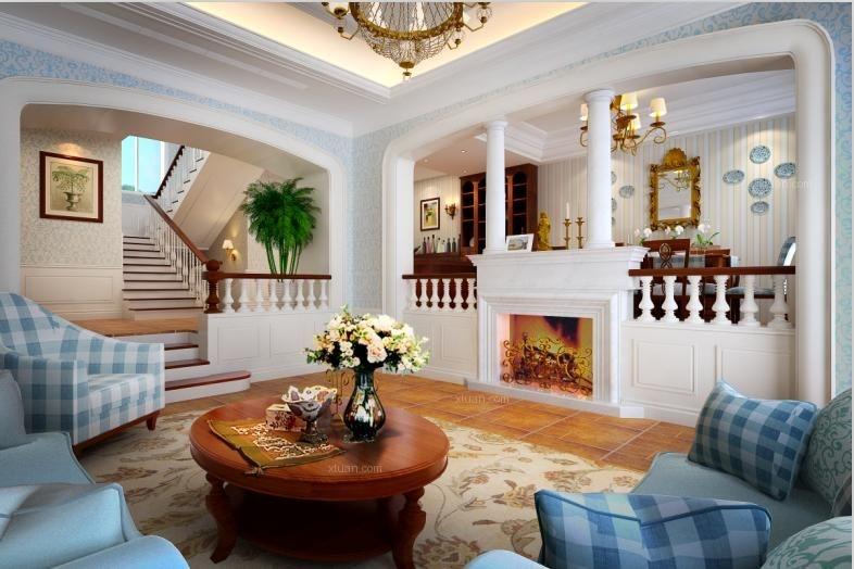 三居室地中海风格客厅