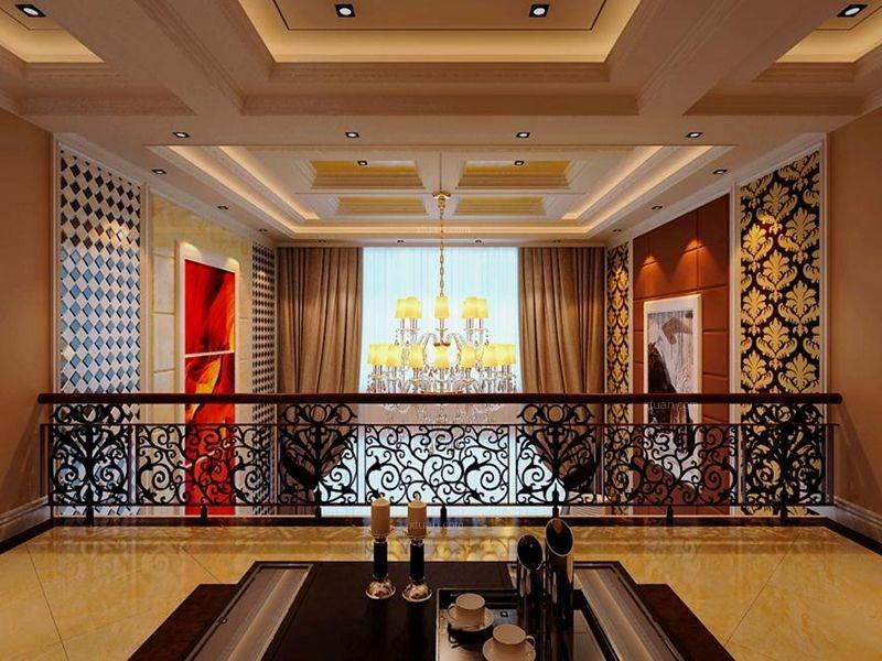 复式楼简欧风格客厅_康城逸树装修效果图-x团装修网图片