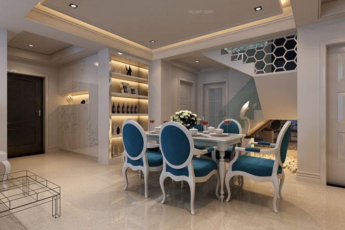 海景别墅北欧风格餐厅图片