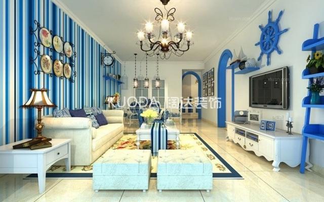 盘龙区昆明广场126平方米地中海风格中户型8.4万元
