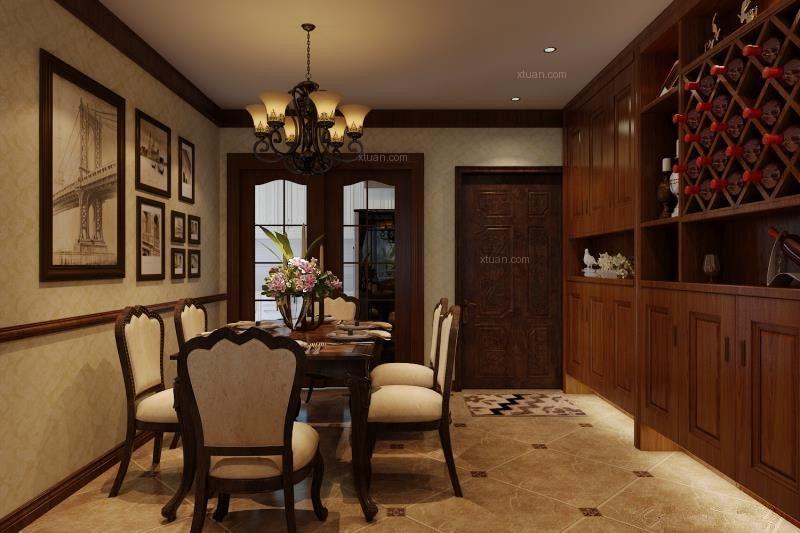 四居室美式风格餐厅厨具
