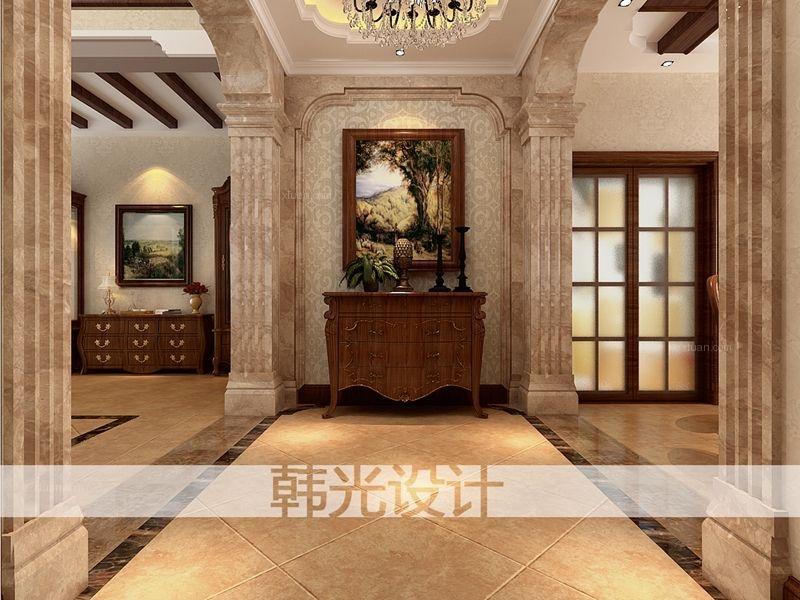 别墅欧式风格餐厅影视墙