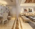 广电兰亭珑府四居室简欧风格--现代欧式温馨家