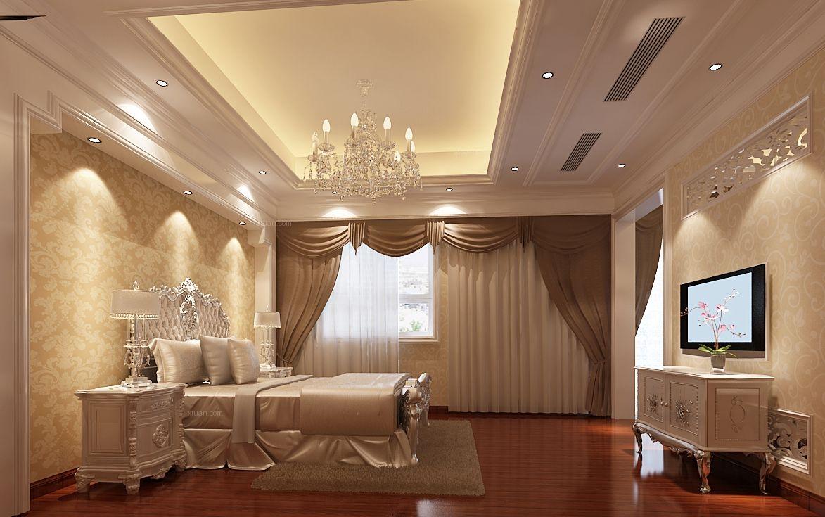 别墅欧式风格主卧室图片