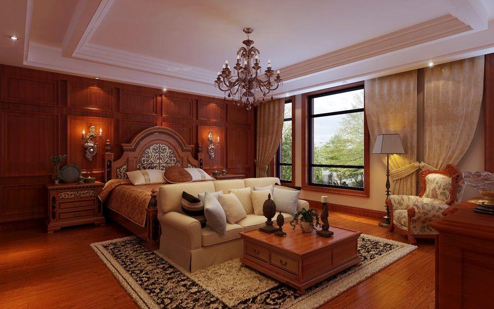 自在香山-380平别墅-美式乡村风格装修设计案例