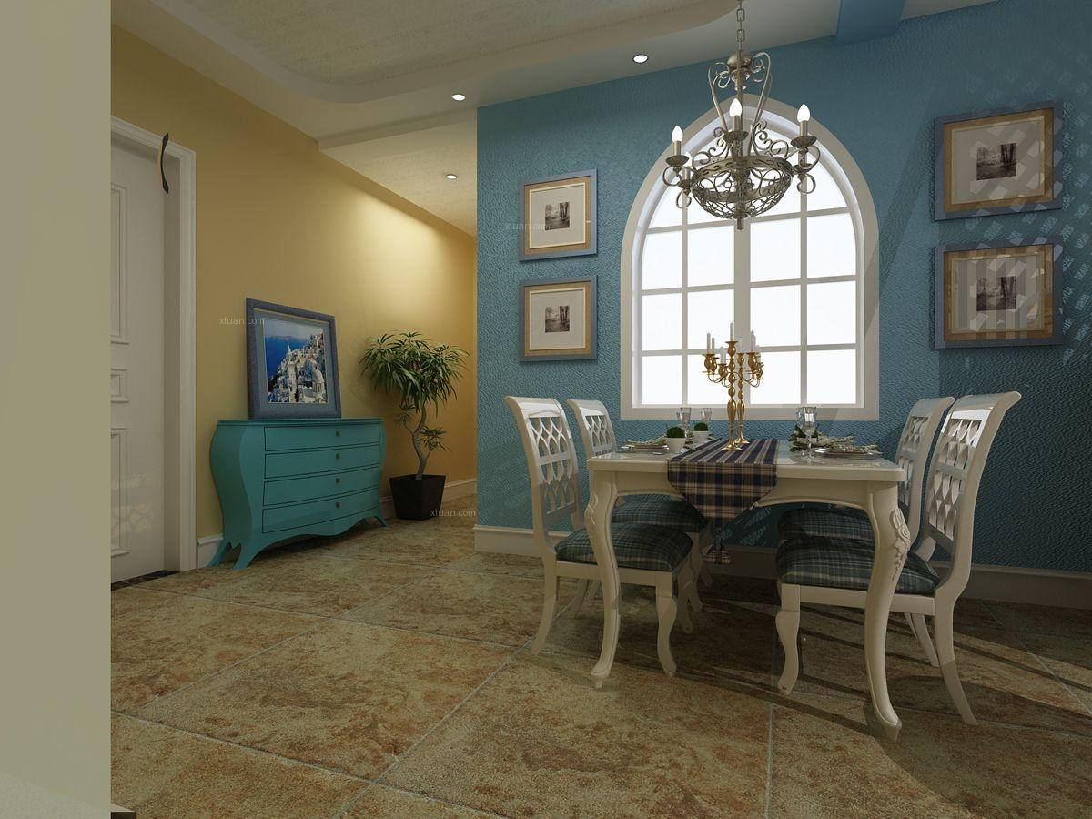 两室一厅地中海风格餐厅照片墙