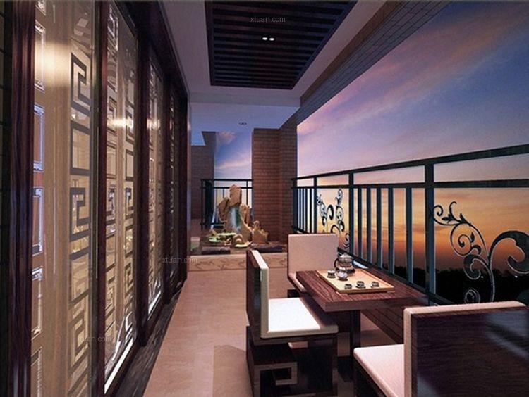 大户型中式风格阳台