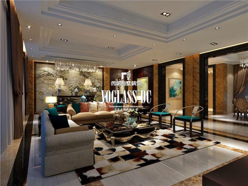 成都别墅装修首席设计师南湖国际社区七期新中式风格案例
