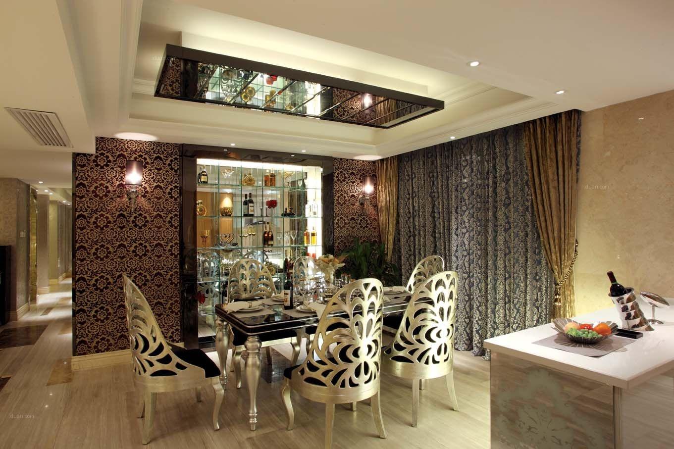 三室一厅古典风格餐厅