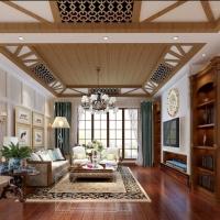 红杉溪谷-320平别墅-美式风格装修设计案例
