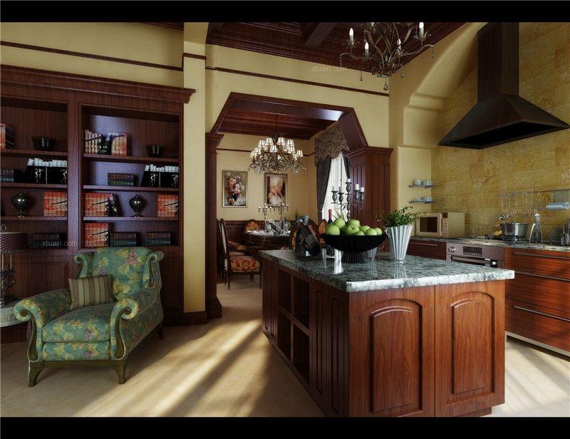 别墅美式风格厨房厨具