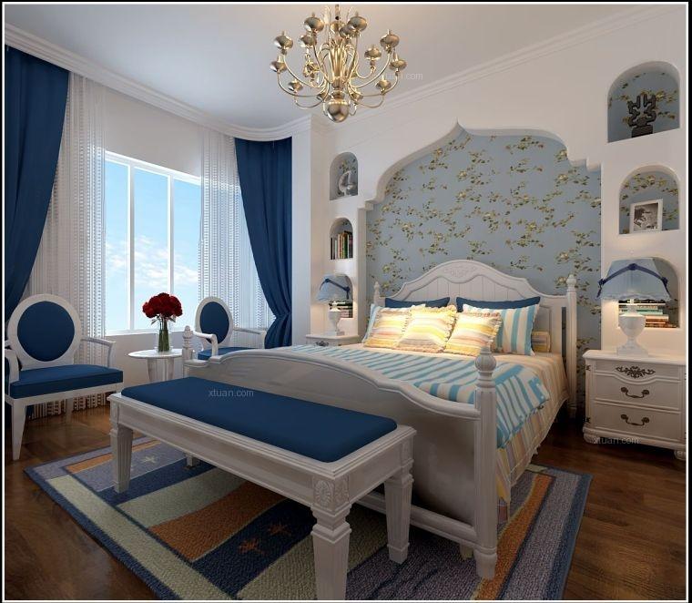 三居室现代风格小卧室照片墙