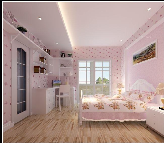 三居室现代风格小卧室墙绘
