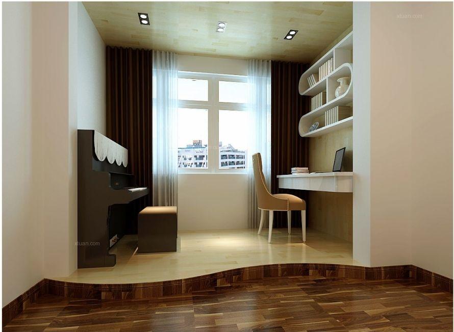三居室现代风格书房软装