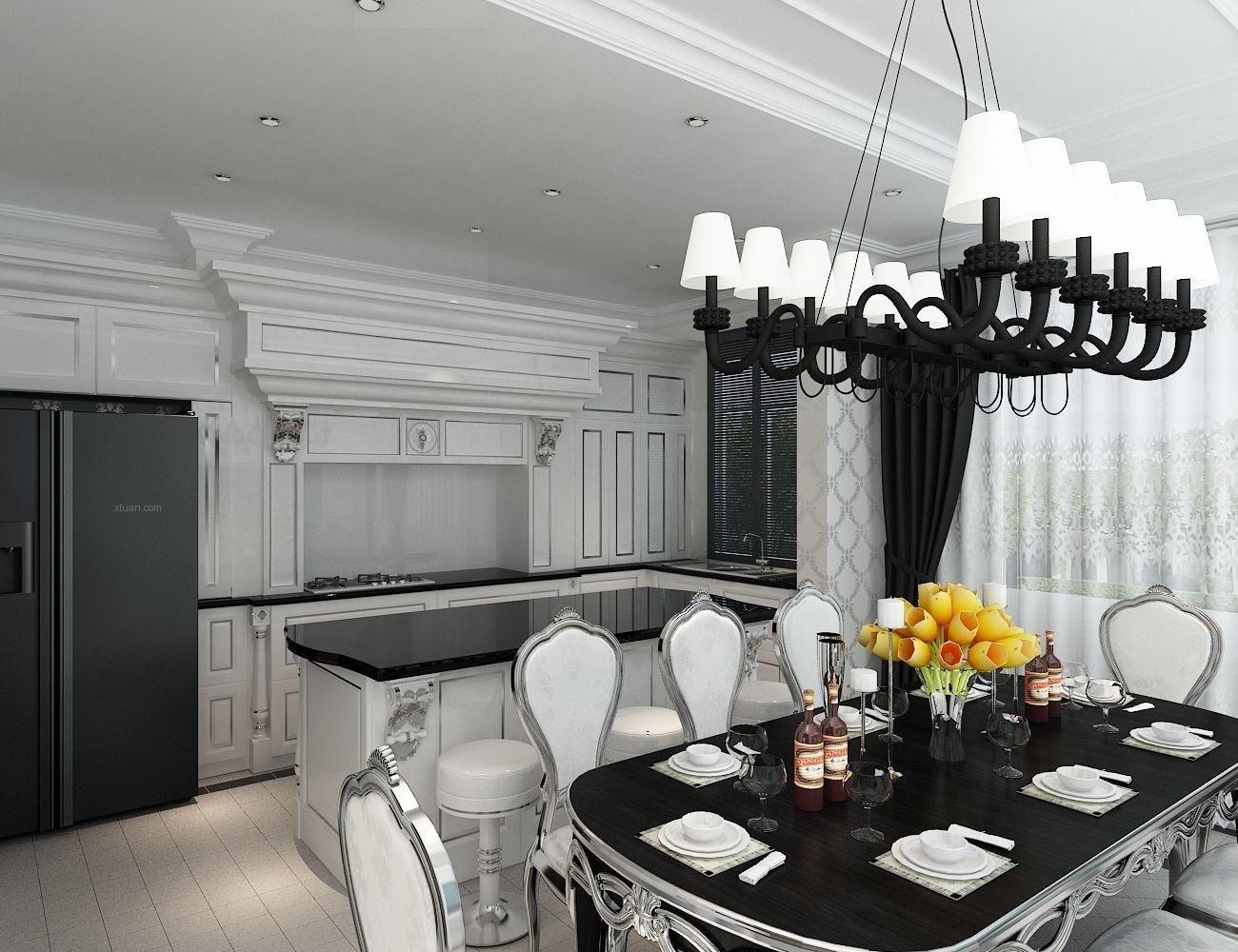 四居室时尚风格厨房开放式厨房