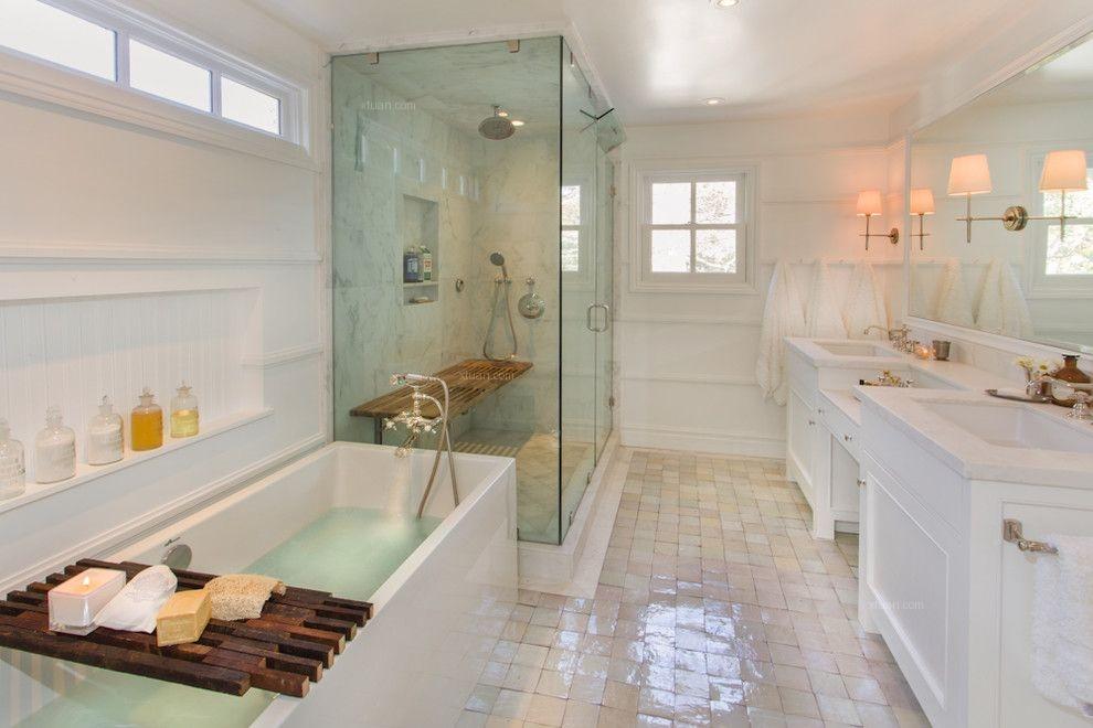 三居室田园风格浴室