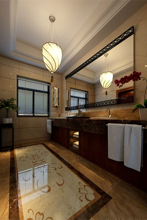 别墅中式风格卫生间