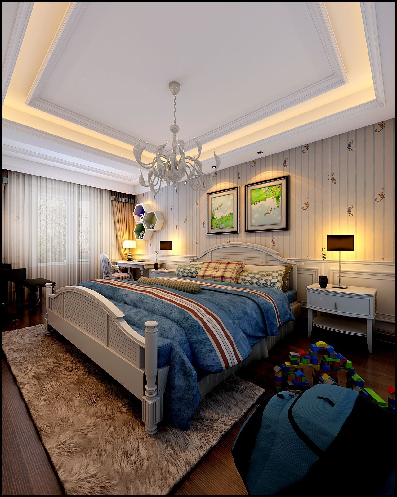 复式楼简欧风格卧室图片