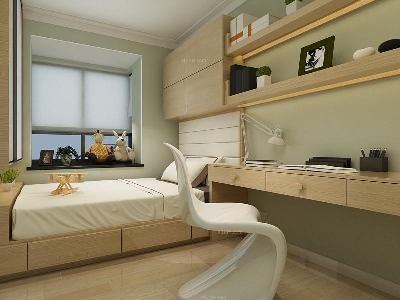 两居室现代风格卧室榻榻米
