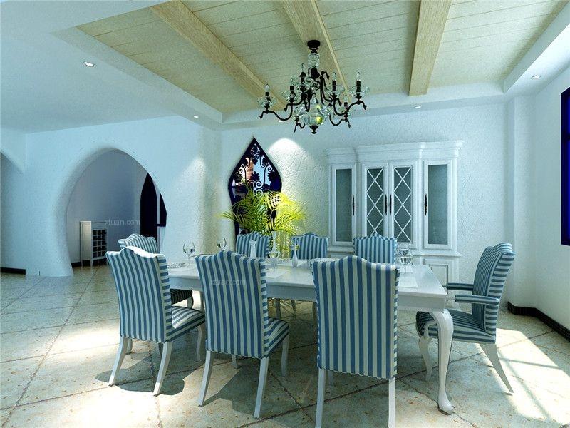 四居室地中海风格客厅软装