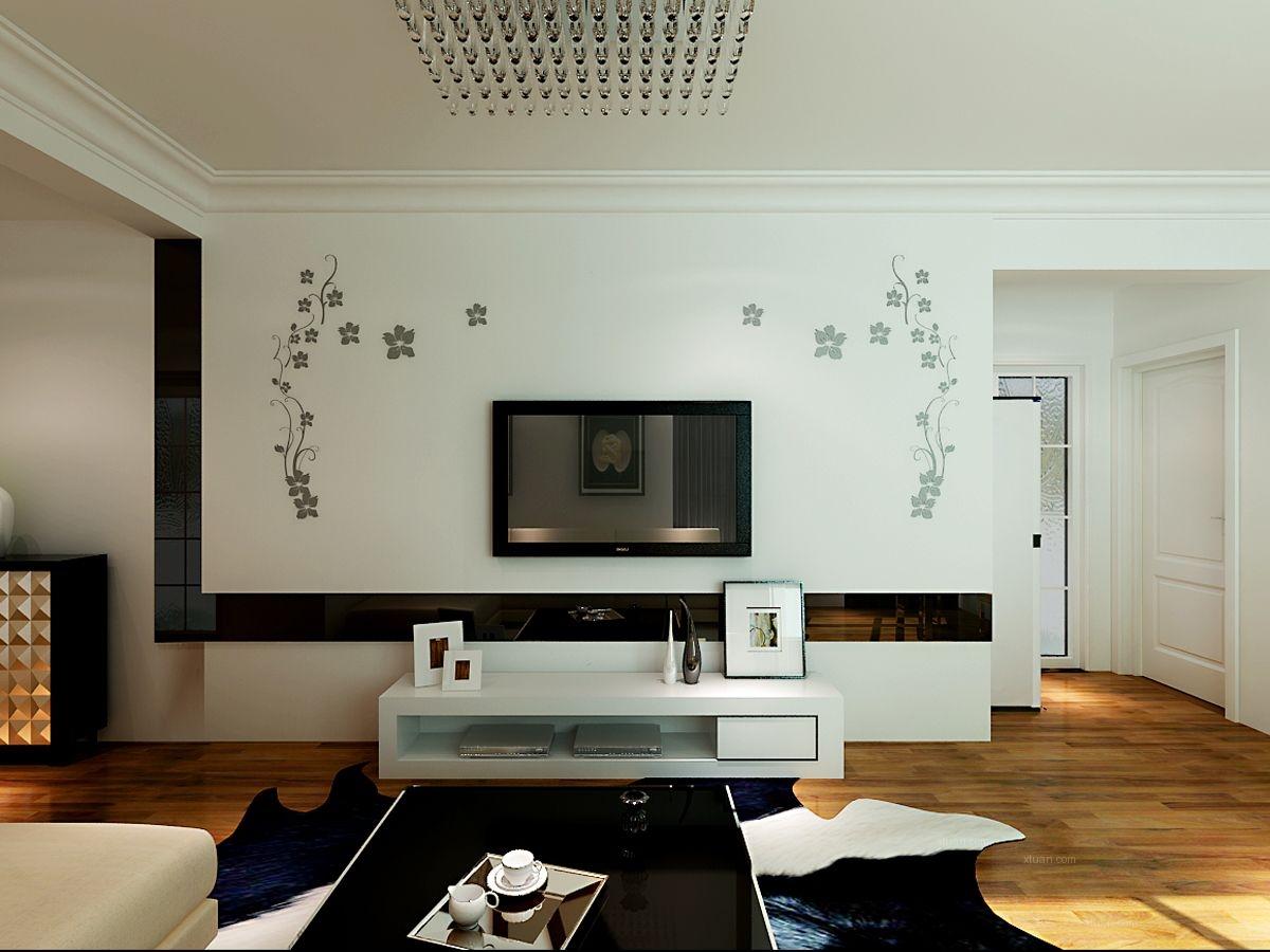 两室两厅现代风格客厅电视背景墙
