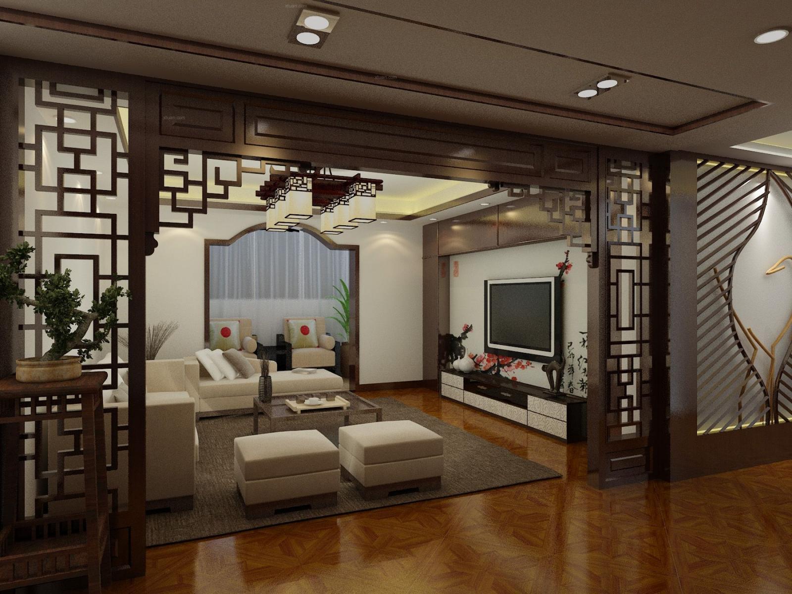 三室两厅中式风格客厅图片