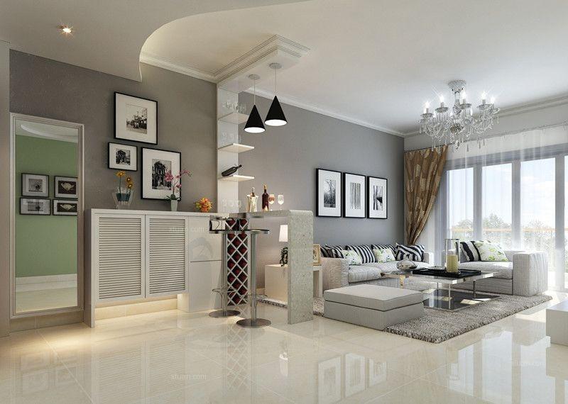 小户型现代风格过道沙发背景墙