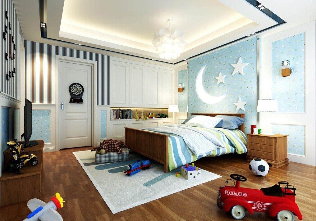 两居室现代简约儿童房_让我看看家的模样装修效果图