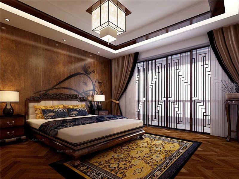北京现代四合院别墅设计装修效果图图片