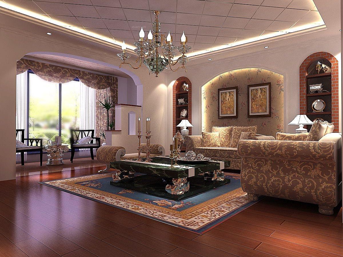 【上海实创装饰】打造200平联排别墅现代欧式风格装修效果图