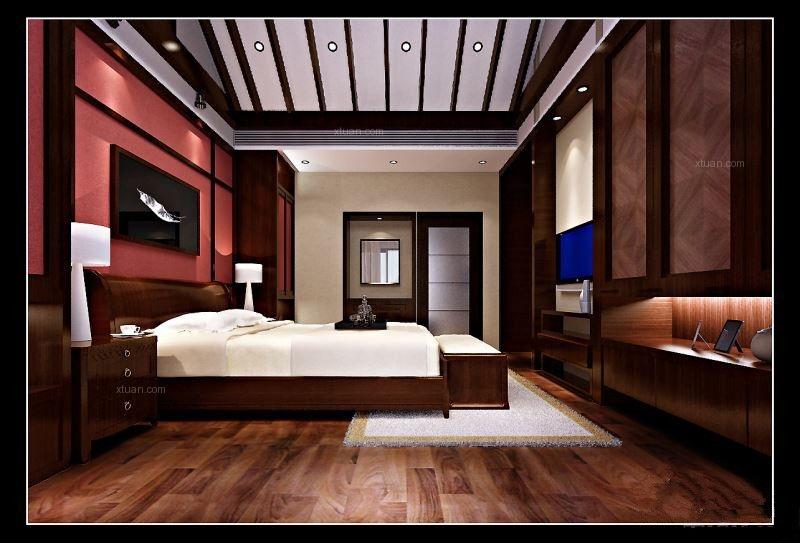 别墅古典风格卧室软装