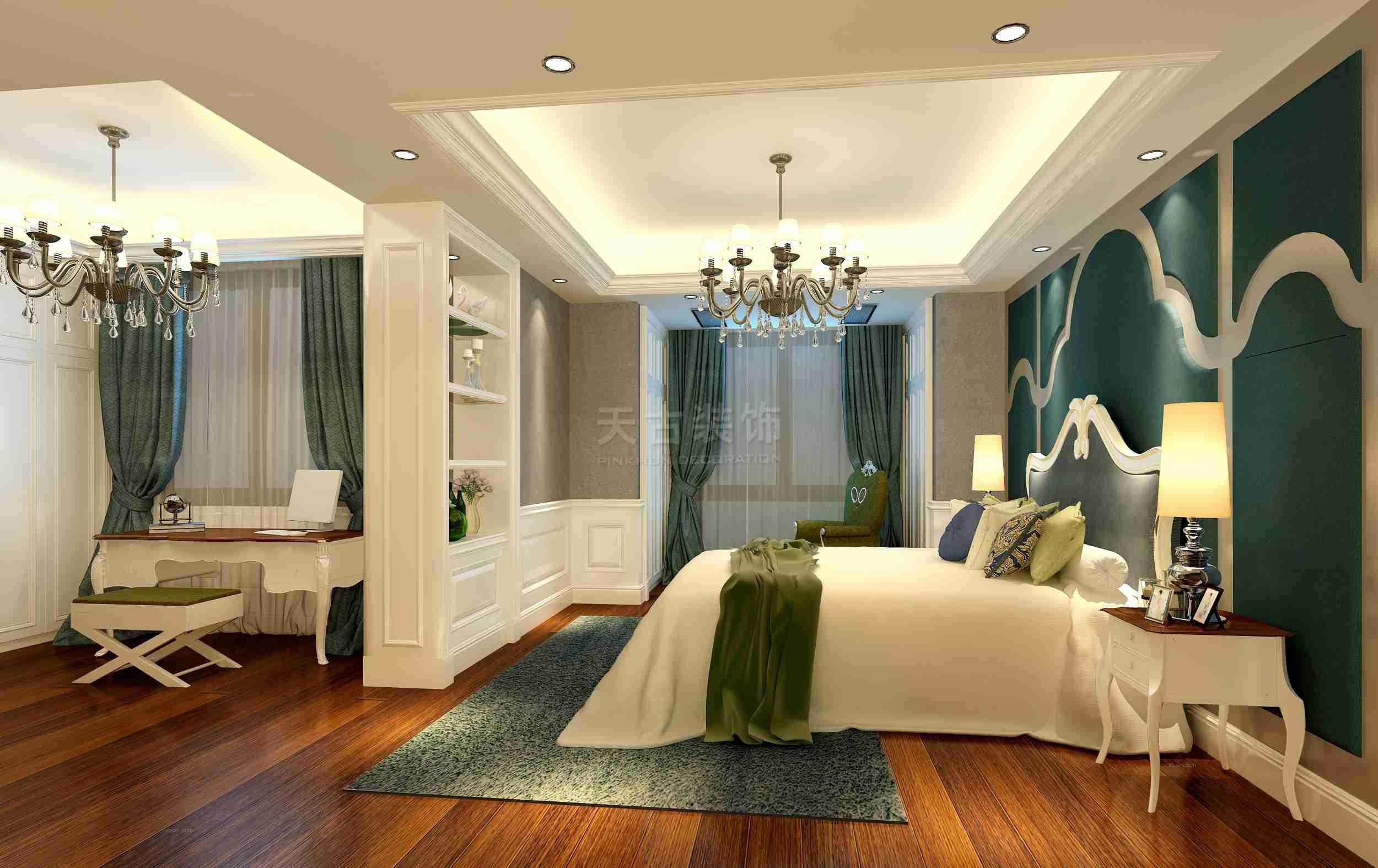 跃层欧式风格卧室_永川巴塞罗那底跃豪华欧式风格设计