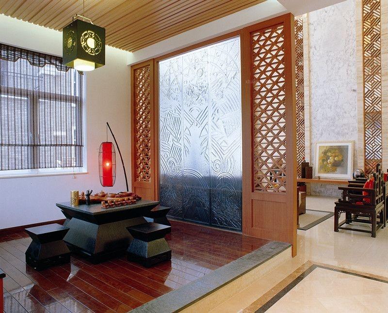 复式楼中式风格客厅软装