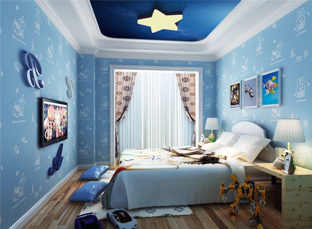 三室两厅欧式风格儿童房_高雅而和谐是新古典风格装修图片