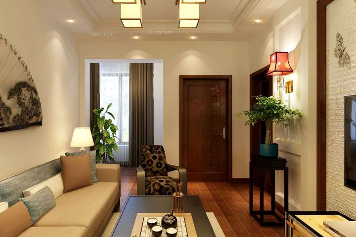 两室一厅中式风格客厅图片