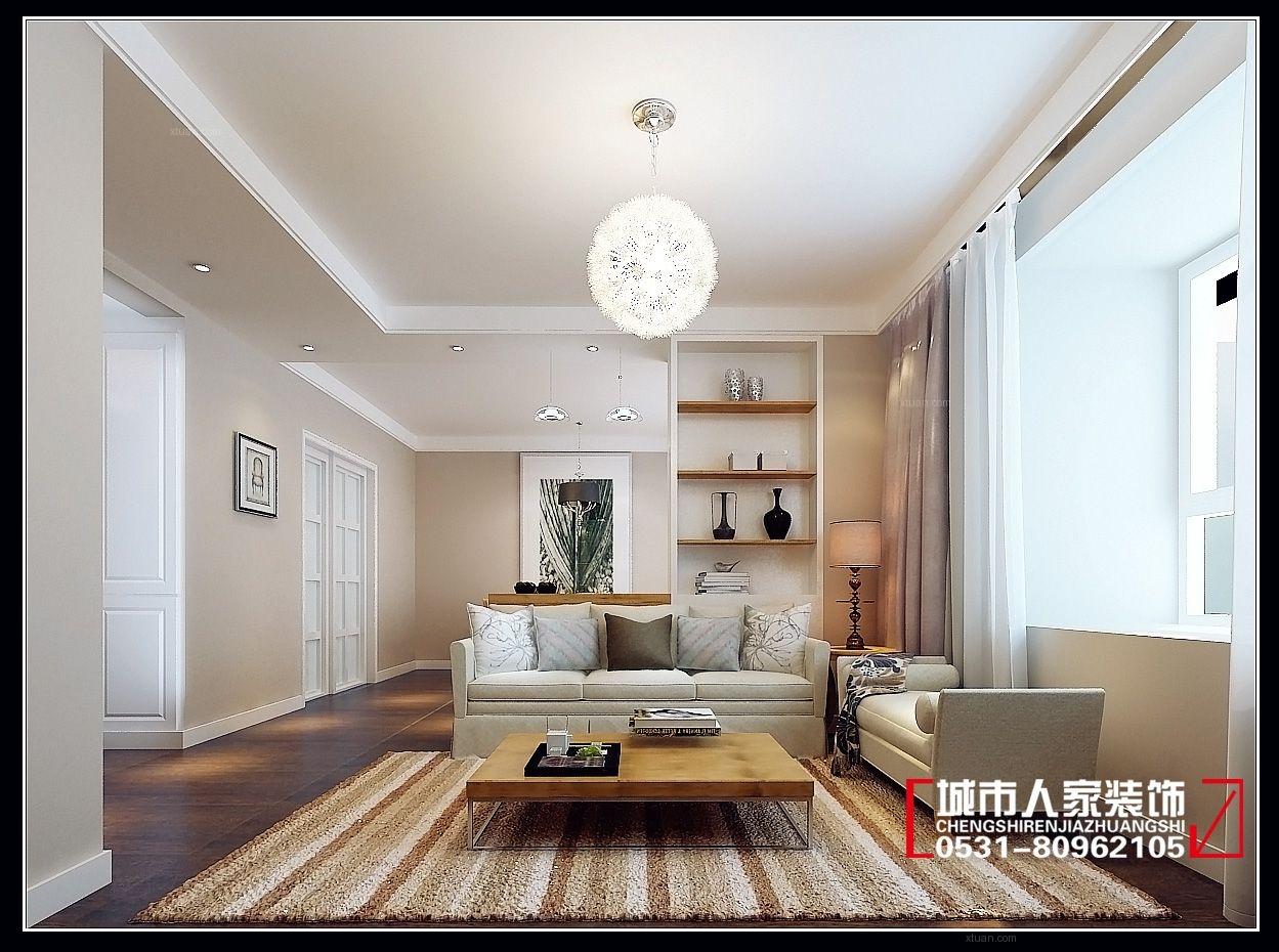一居室简约风格客厅电视背景墙